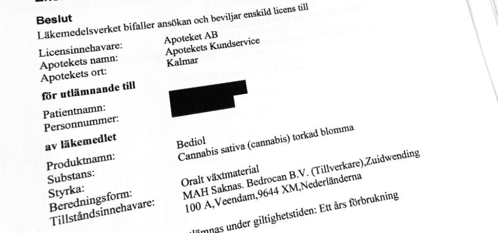 Här är Motiveringarna som får Läkemedelsverket att Godkänna Cannabis-Recept i Sverige